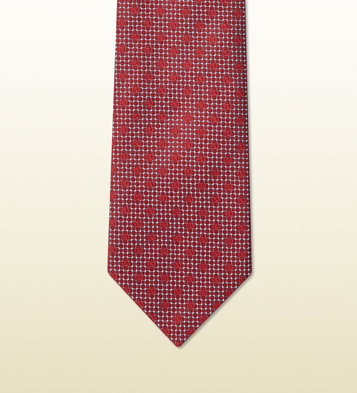 gucci patterned woven silk tie in for lyst