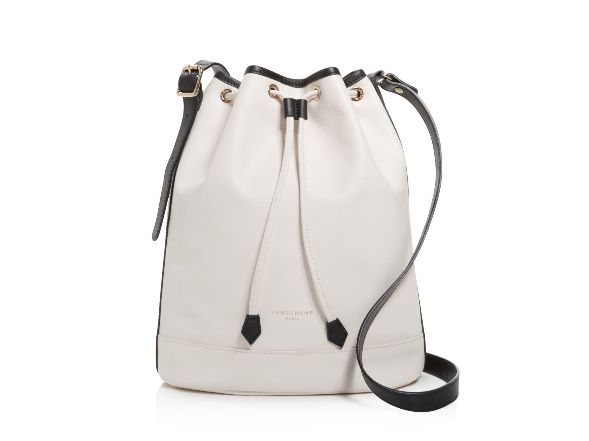 6a1fa5c8456 Lyst - Longchamp Medium 2.0 Bucket Bag in Natural