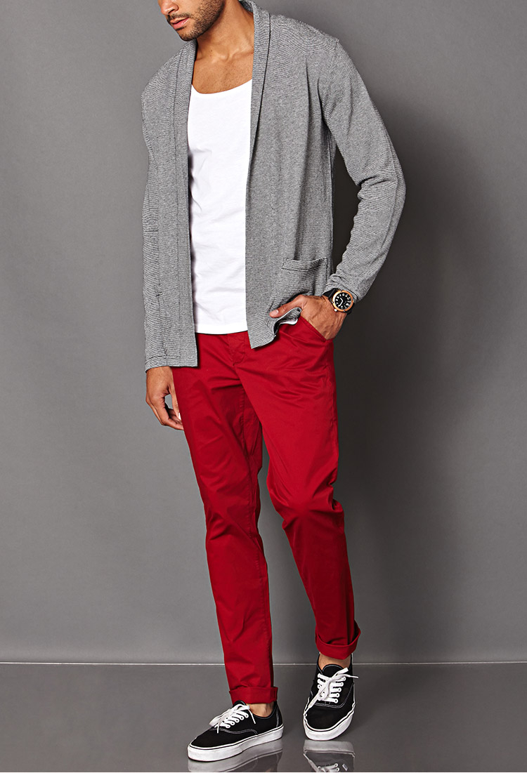 Forever 21 Colored Chinos in Red for Men | Lyst