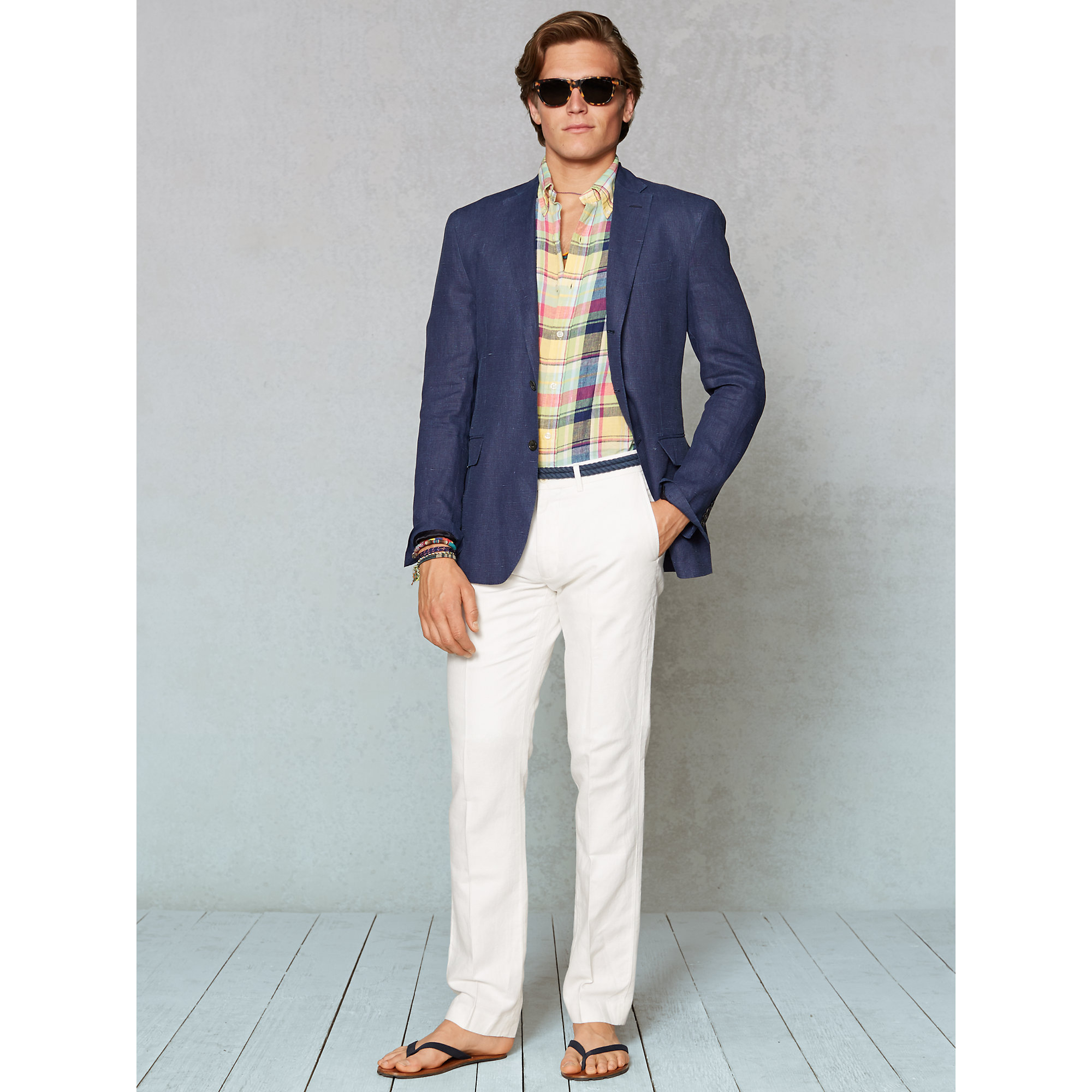 Polo ralph lauren Linen Gilford Sport Coat in Blue for Men | Lyst