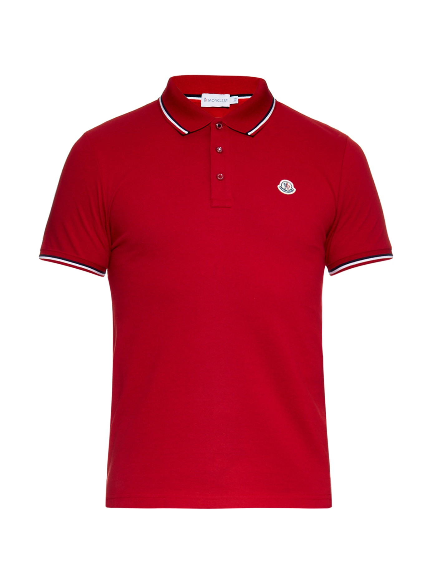 red moncler polo