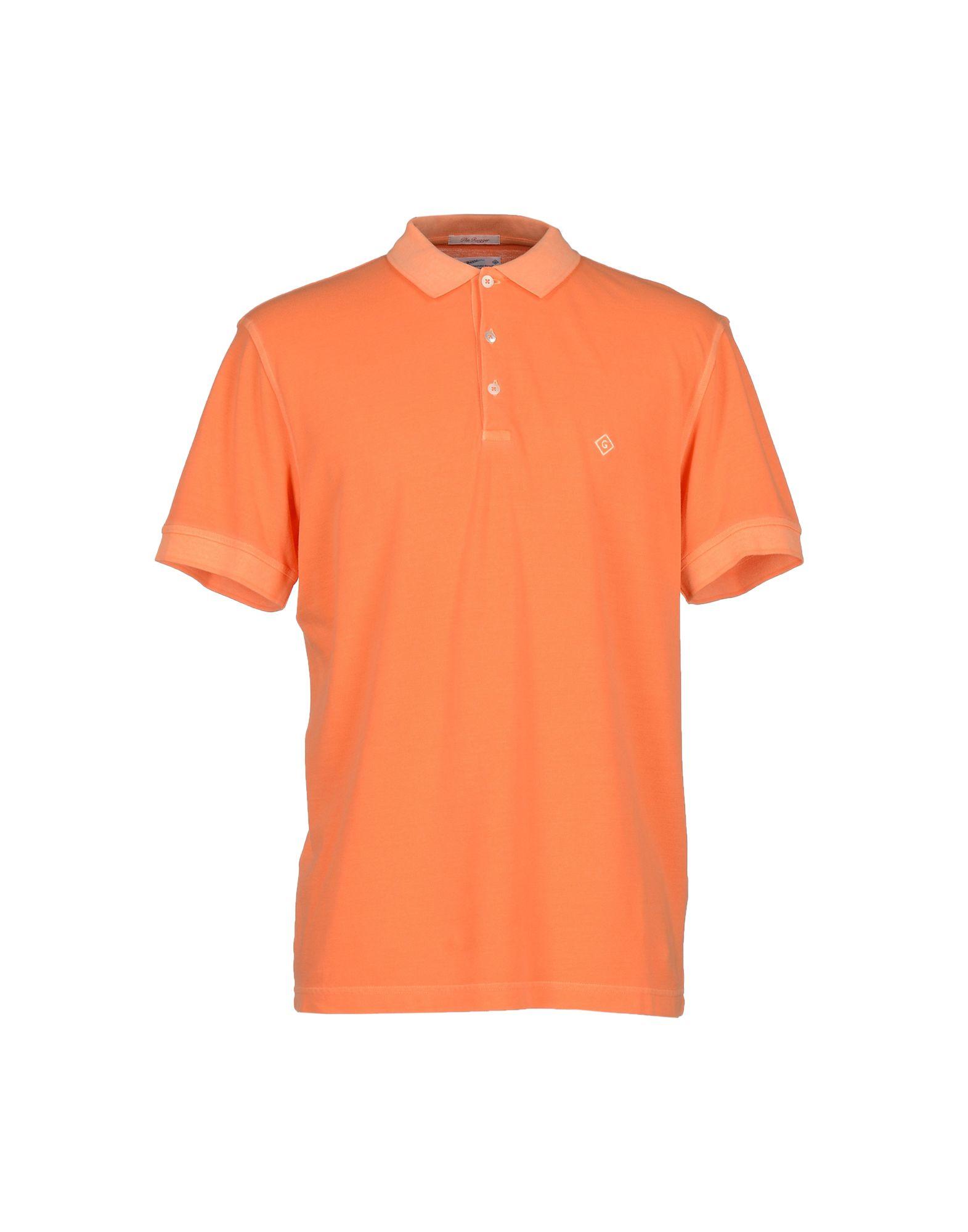 Lyst gant rugger polo shirt in orange for men for Orange polo shirt mens