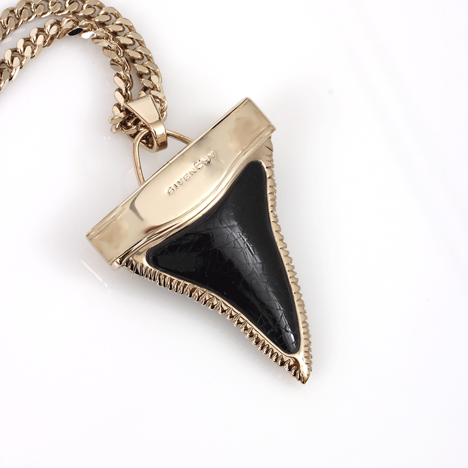 givenchy chain shark tooth necklace in black lyst