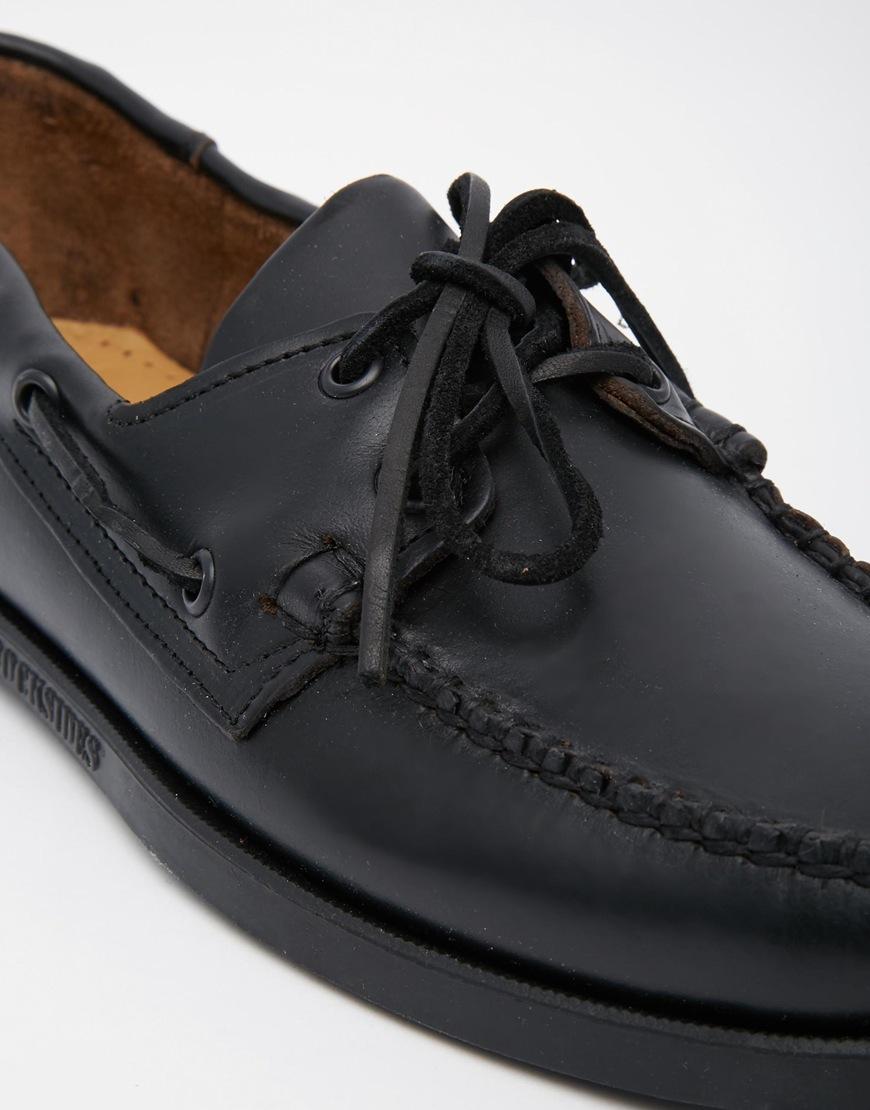 011b6ce6ac66 Lyst - Sebago Horween Docksides Boat Shoes in Black for Men
