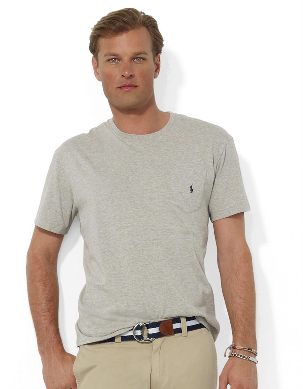 Polo Ralph Lauren Short Sleeved Pocket Crewneck T Shirt In