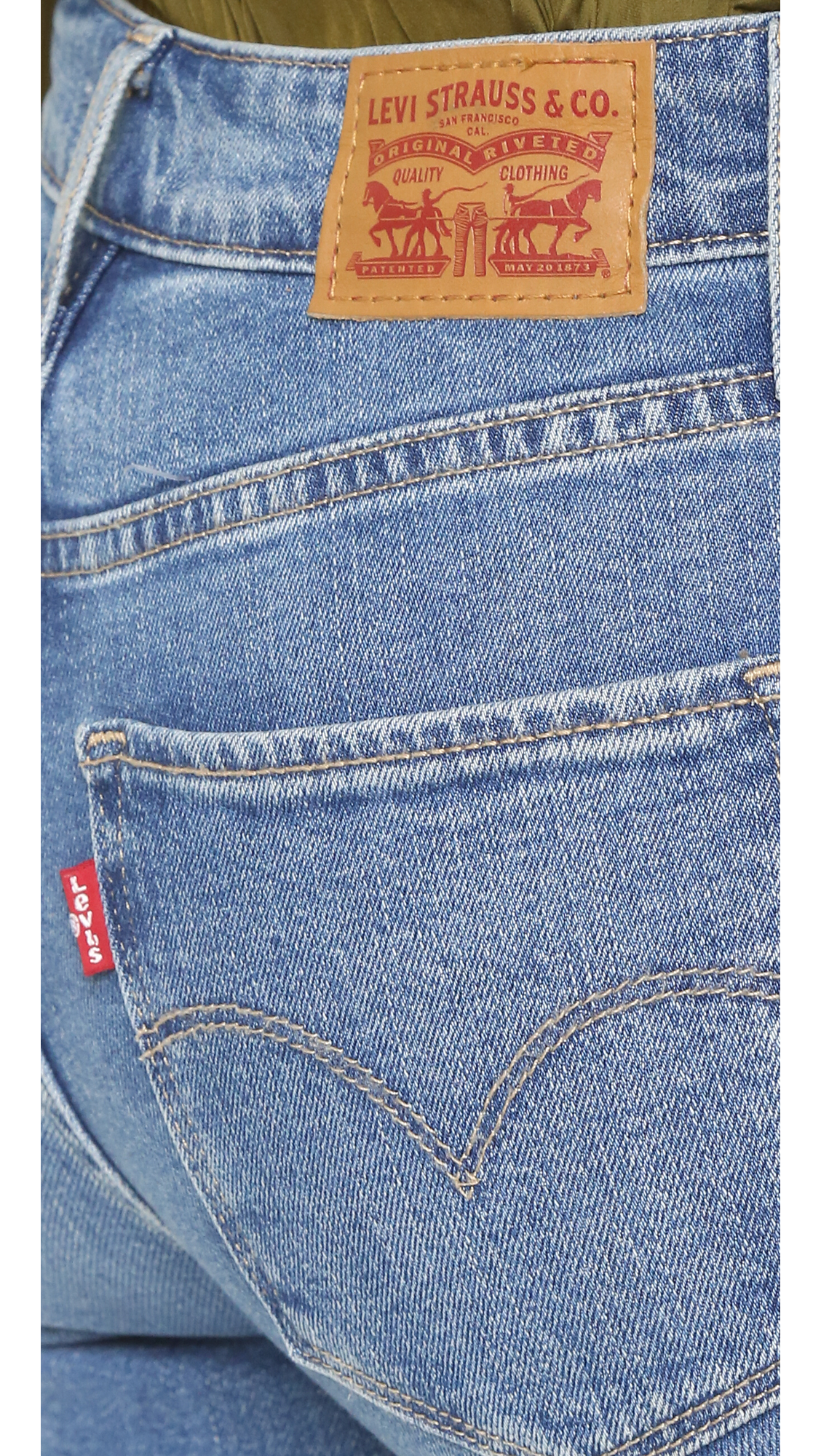 Levi's 721 High Rise Distressed Skinny Jeans in Blue   Lyst