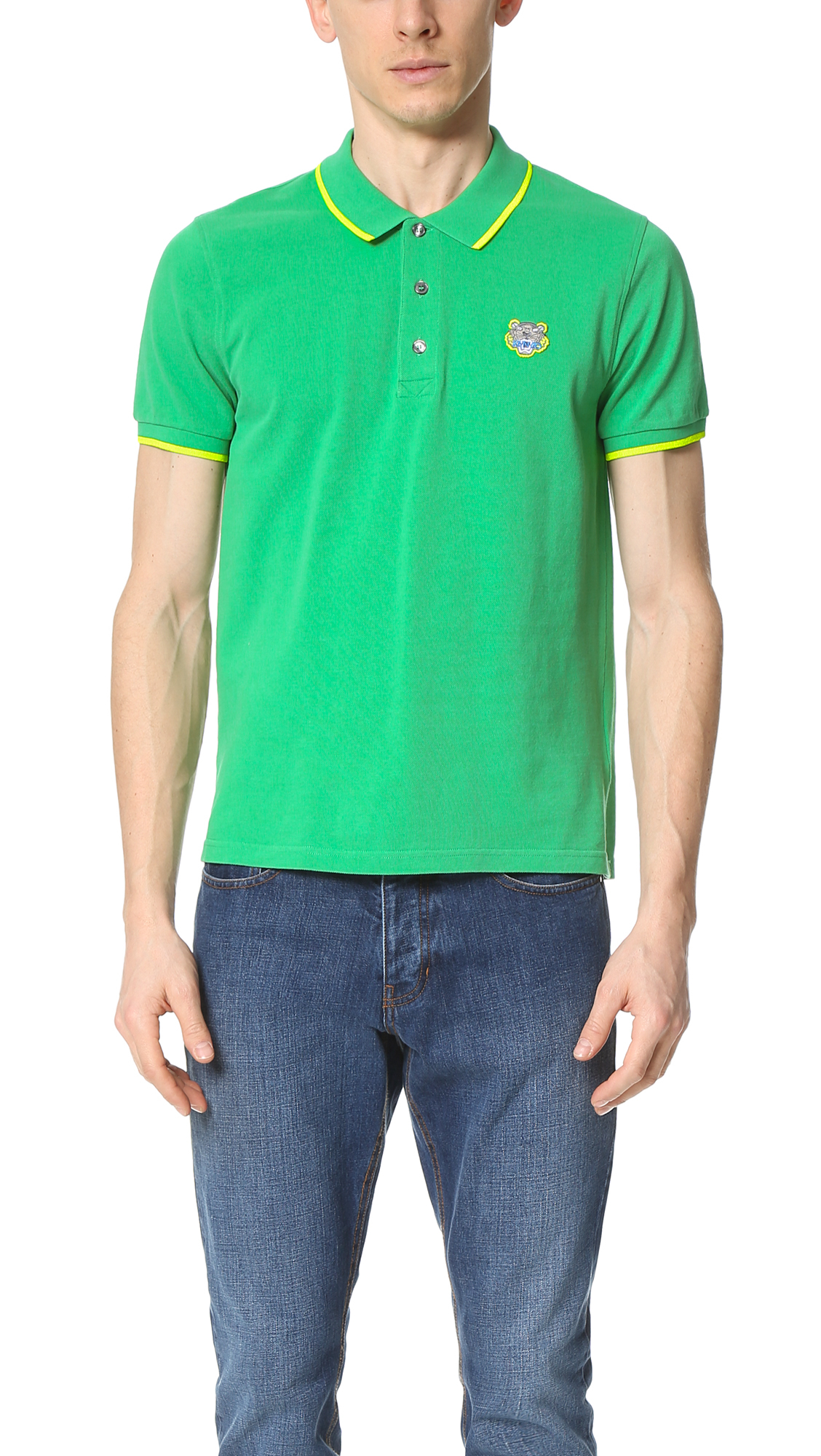 d8c73ec5b KENZO Tiger Crest Classic Polo in Green for Men - Lyst