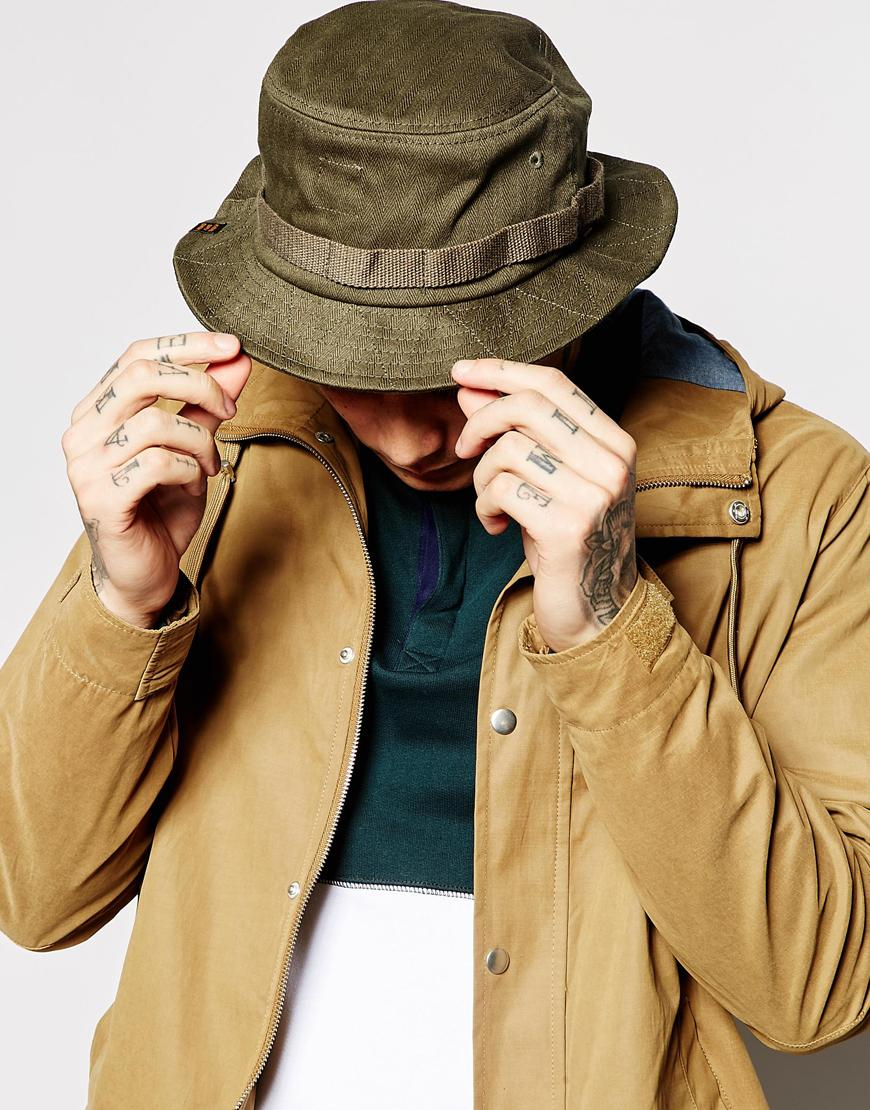 8bb963bd68ded5 ... store lyst herschel supply co. lake bucket hat in green for men 461bc  89bcd