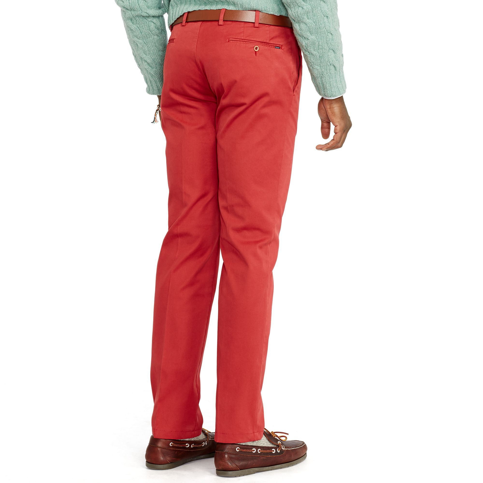 Lauren Men In Red Polo Chino Ralph Stretch Slim Fit Lyst For zwSS5x1Yq