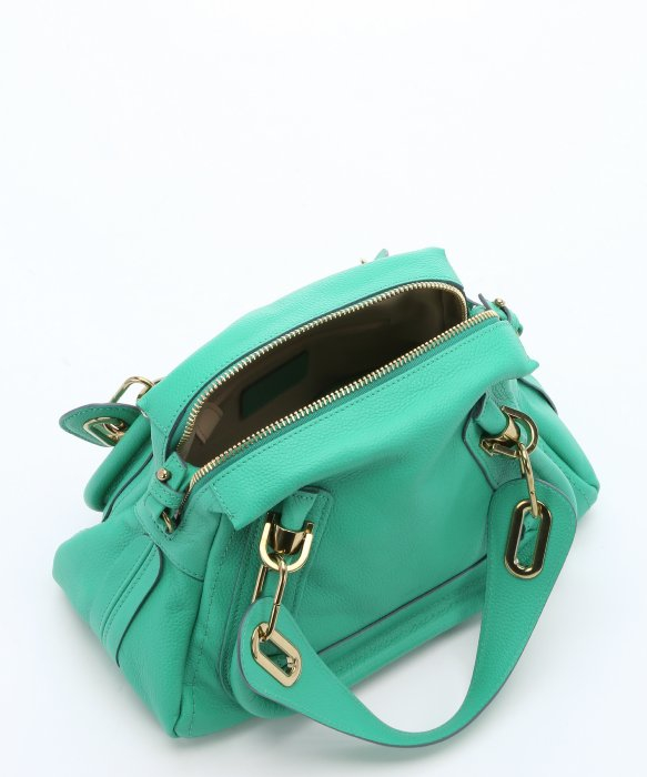 Chlo¨¦ Jade Green Leather Mini \u0026#39;paraty\u0026#39; Convertible Top Handle Bag ...