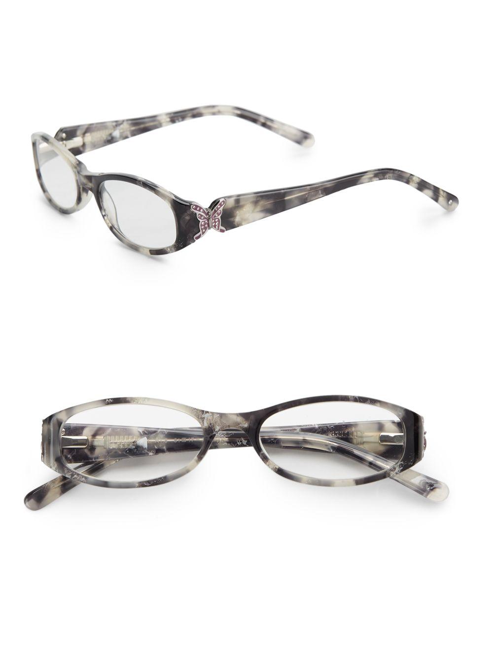 judith leiber 51mm oval optical glasses lyst