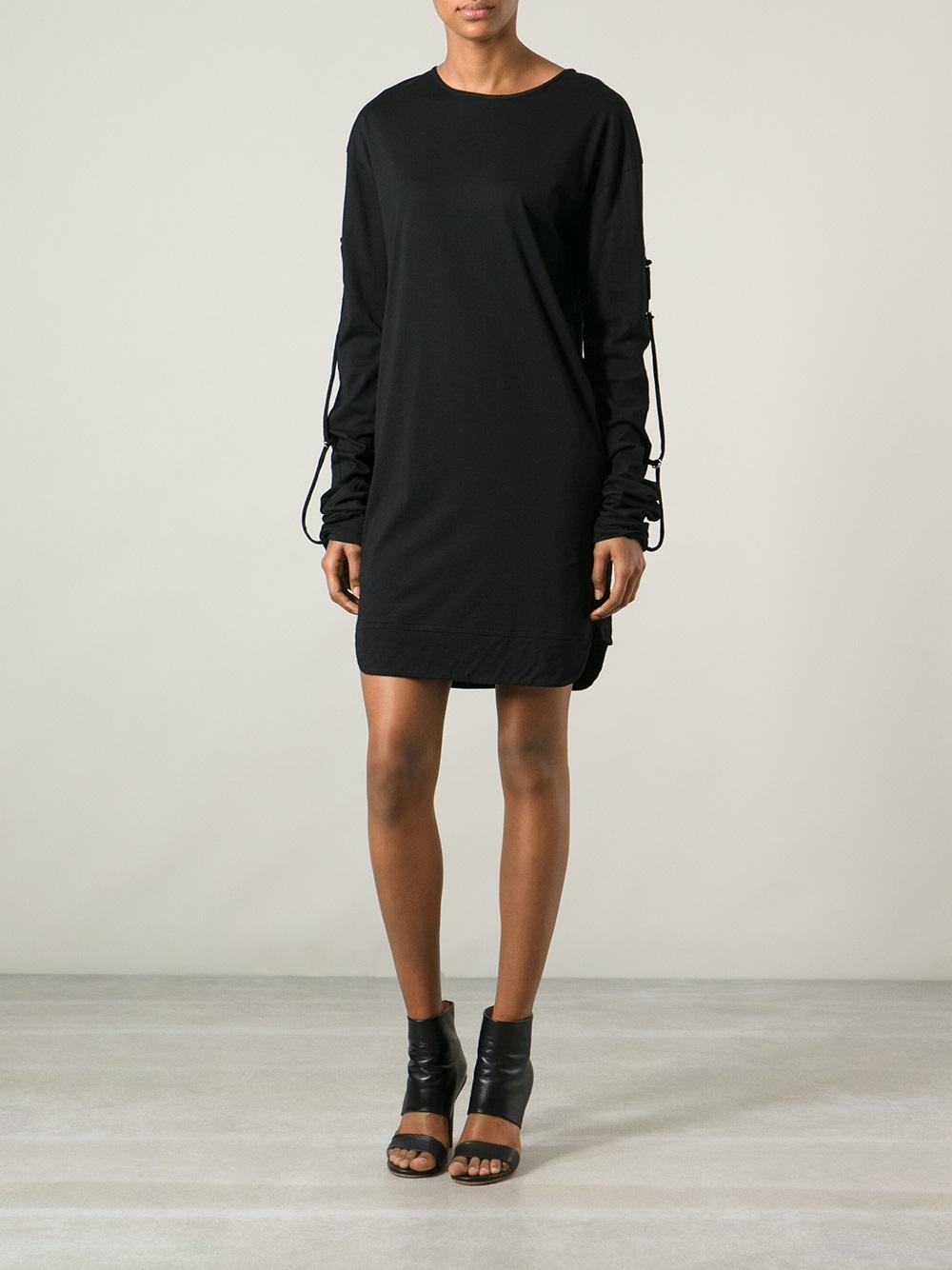Lyst isabel marant tshirt dress in black for Isabel marant shirt dress