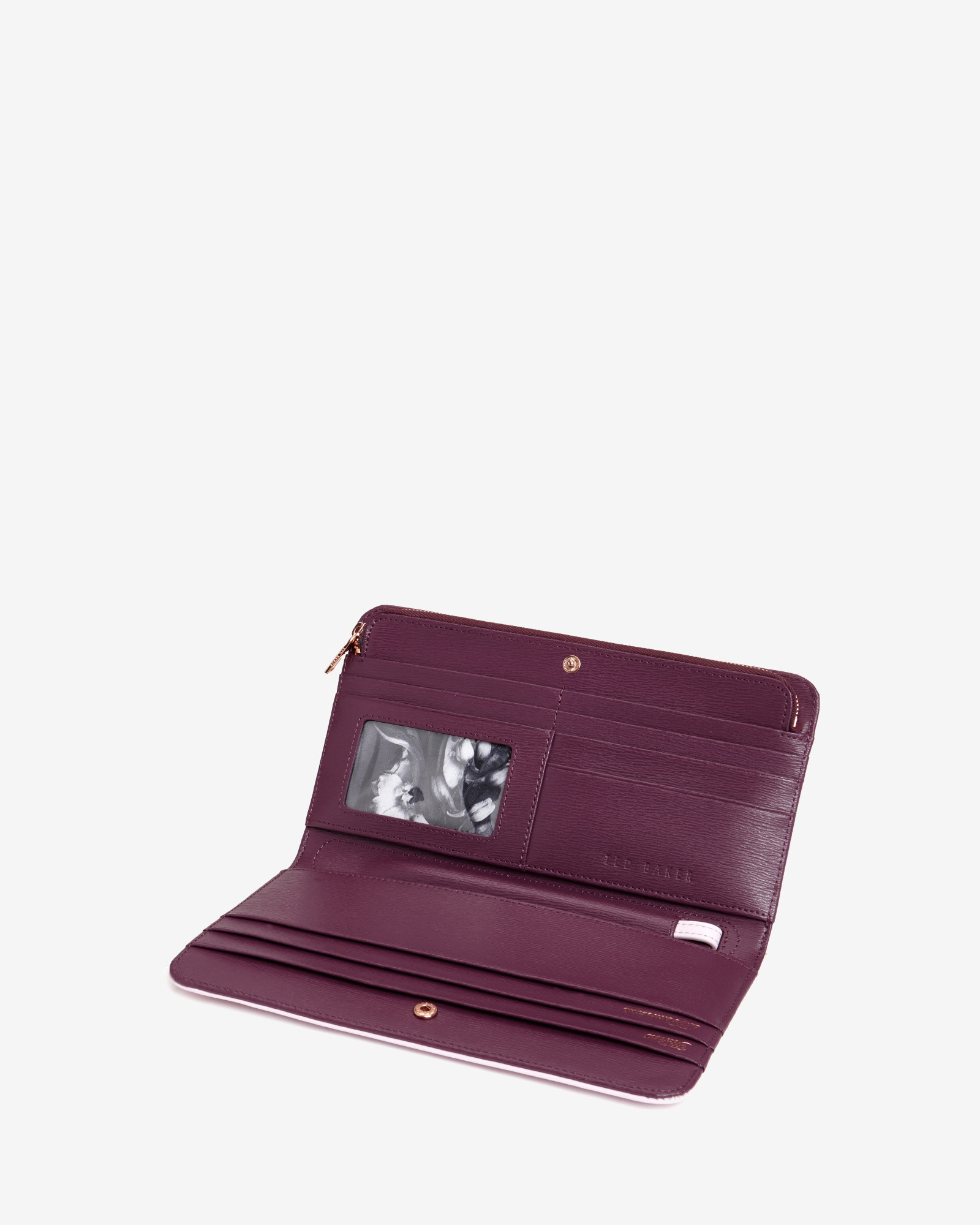 Lyst Ted Baker Colorblock Leather Travel Wallet In Pink