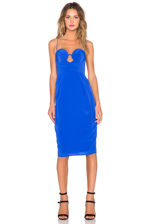 Lyst Zimmermann Silk Lift Dress In Blue