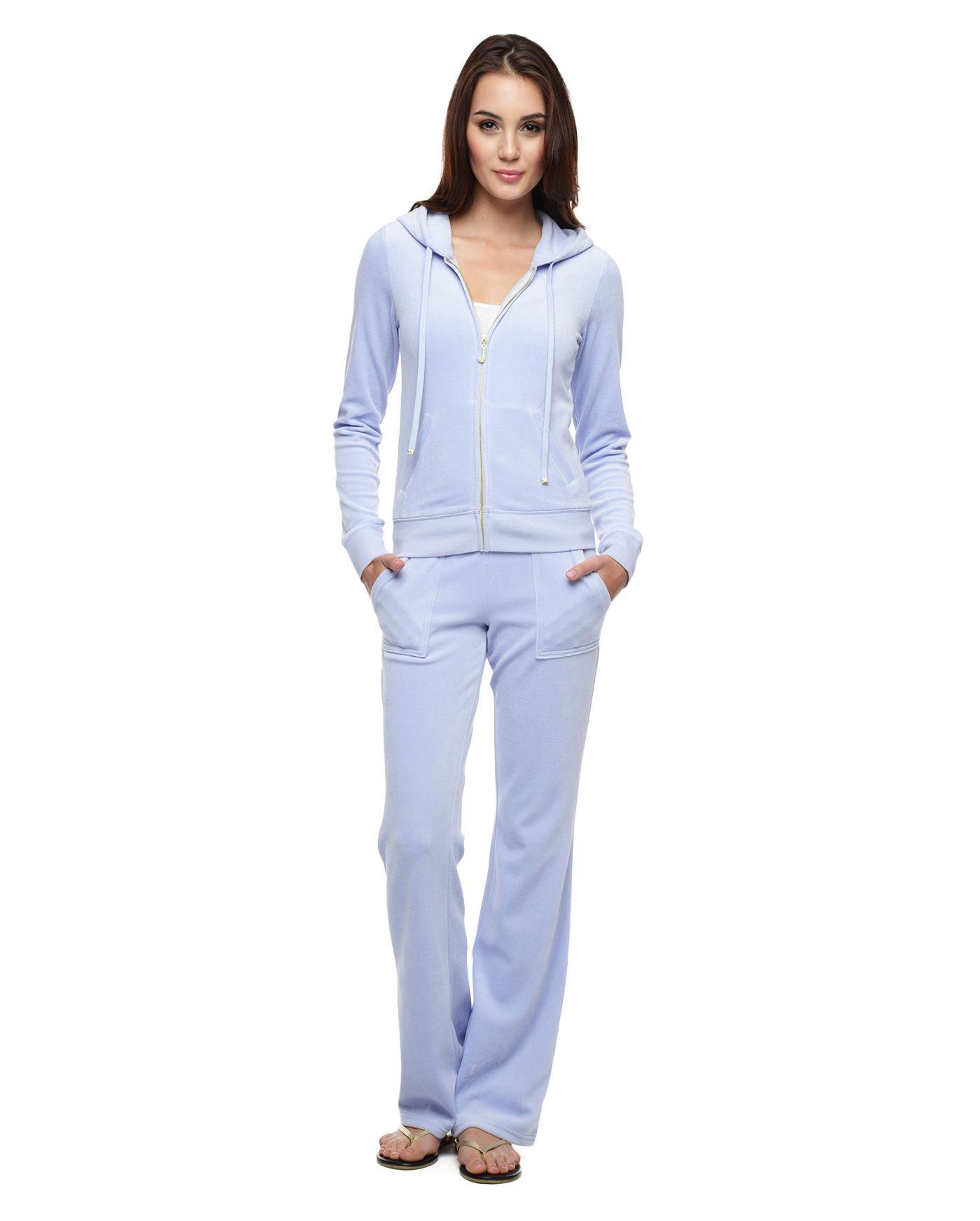 Juicy Couture J Bling Original Velour Jacket In Blue