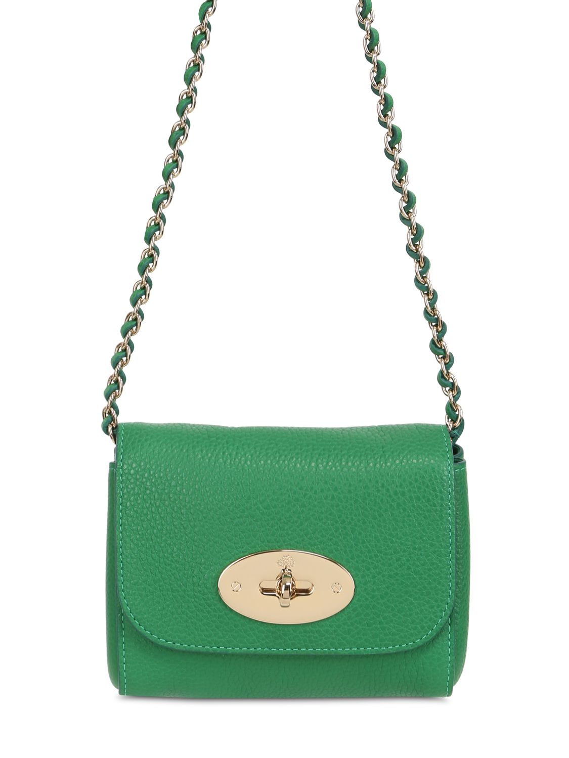 d4f53c39bd Lyst - Mulberry Mini Lily Grained Leather Shoulder Bag in Green