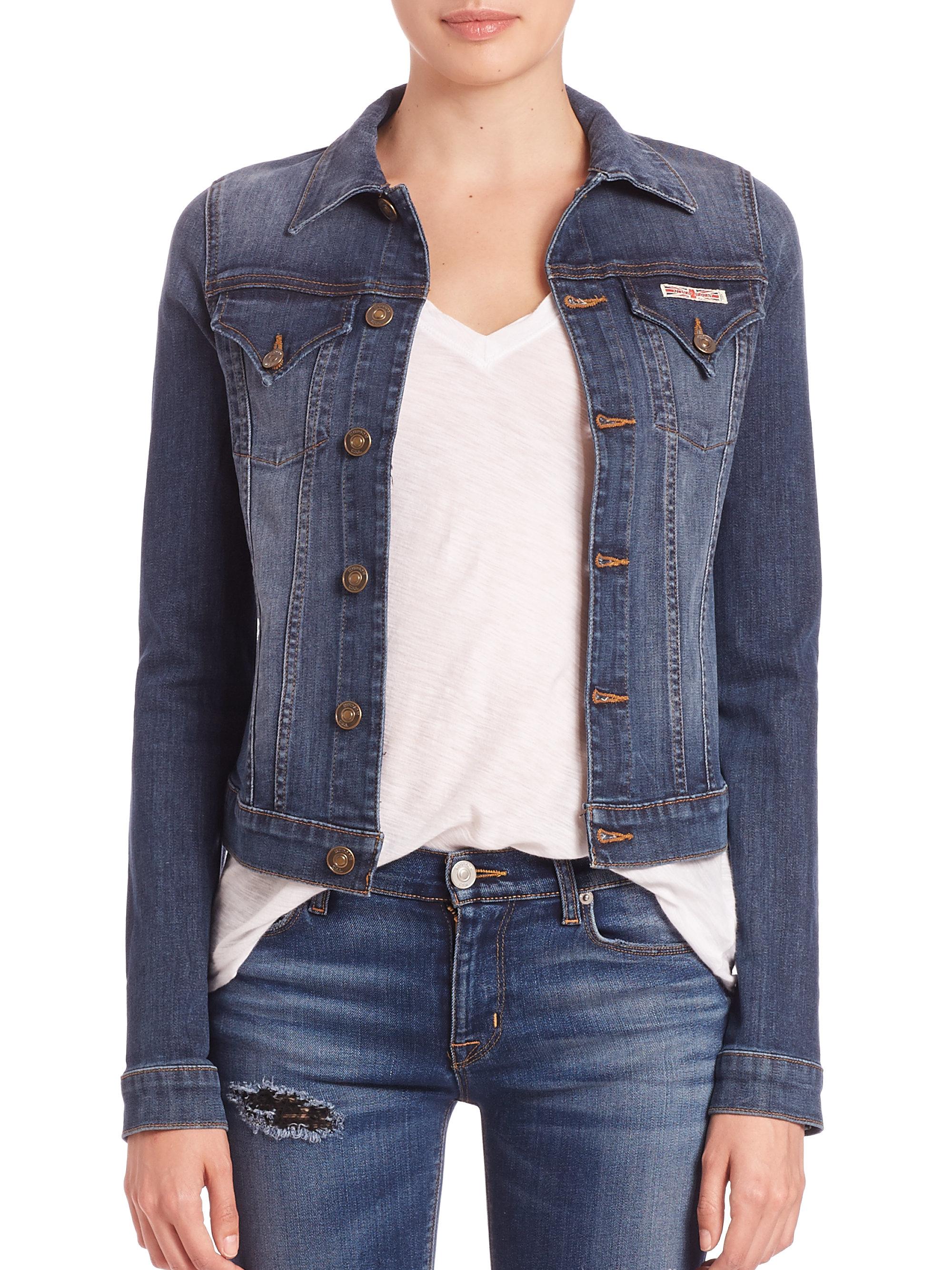 Lyst - Hudson jeans Signature Denim Jacket in Blue
