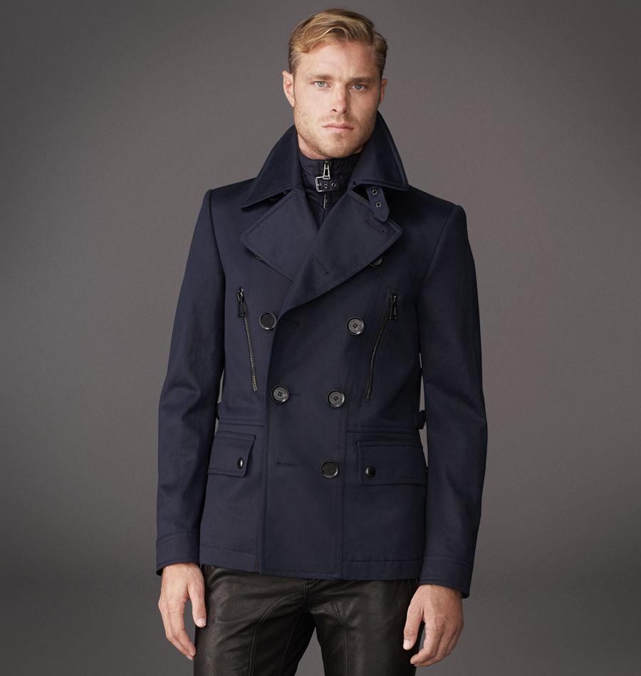 Belstaff Salisbury Peacoat Jacket in Blue for Men | Lyst