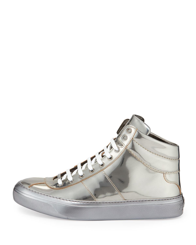 c4e5260fcad Lyst - Jimmy Choo Belgravia Metallic High-Top Sneakers in Metallic ...