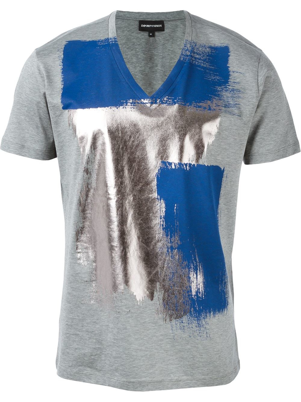emporio armani painting strokes t shirt in blue for men. Black Bedroom Furniture Sets. Home Design Ideas