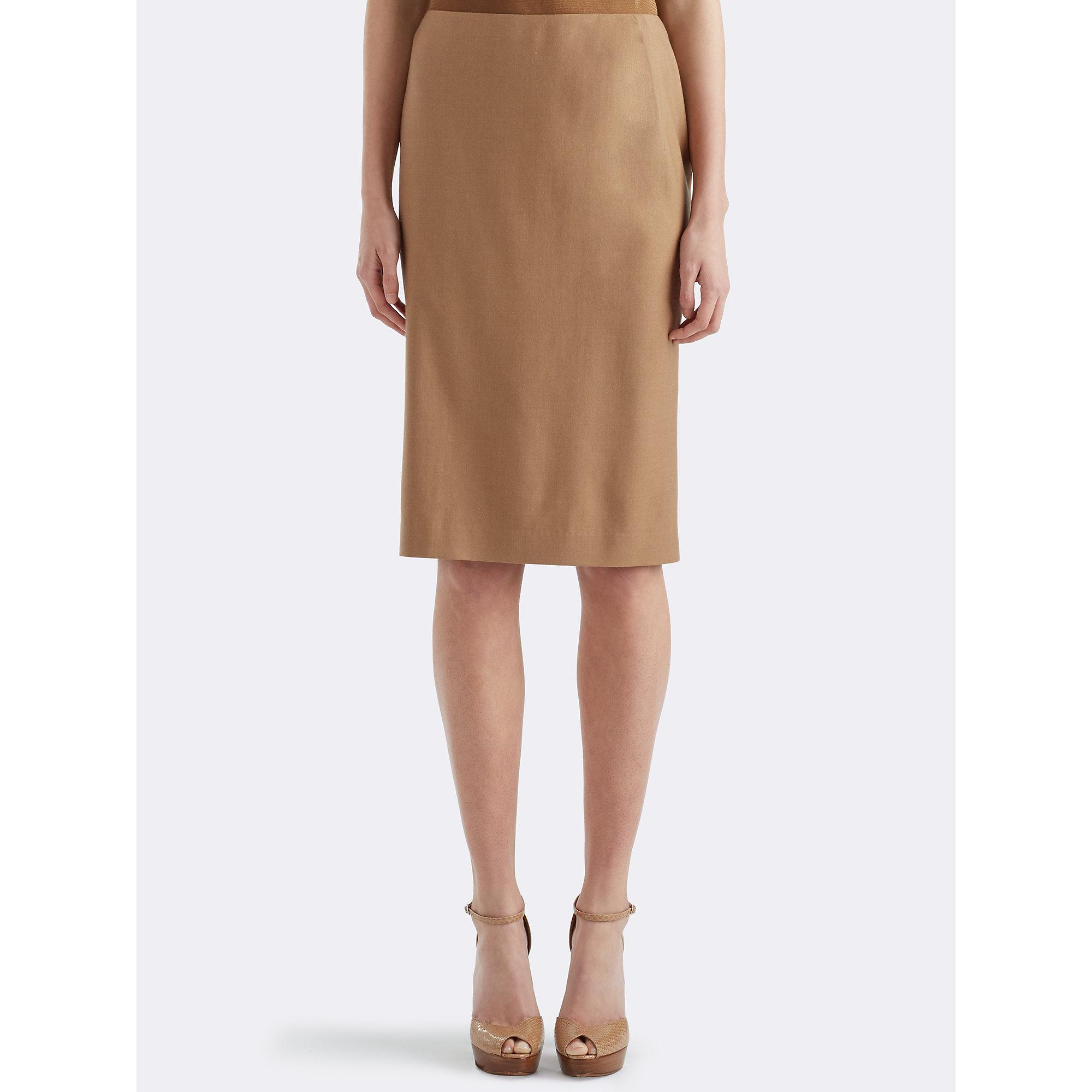 Lyst Ralph Lauren Cindy Wool Pencil Skirt In Natural