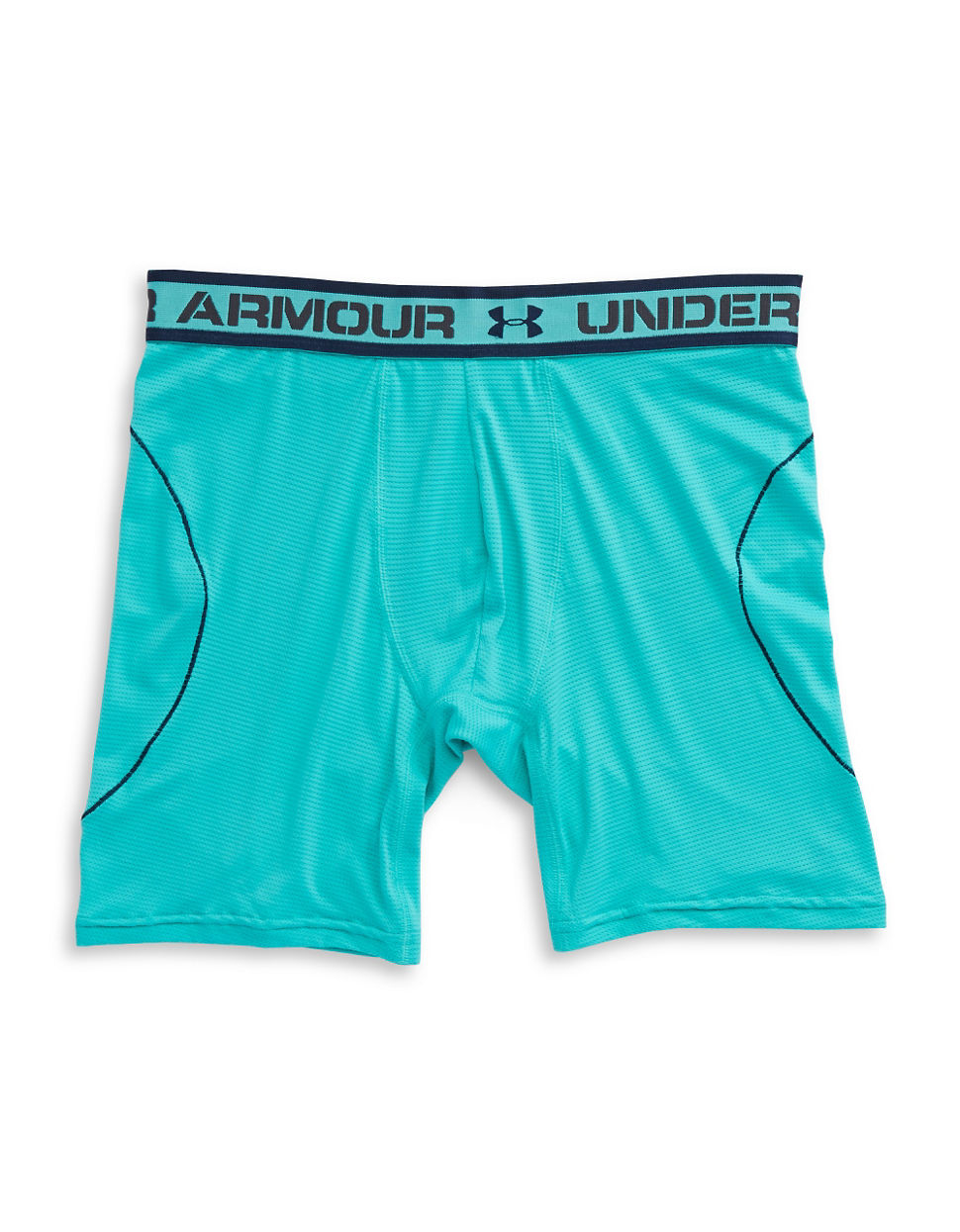 Under armour iso chill 6 inch boxerjock in teal for men lyst for Teal under armour shirt