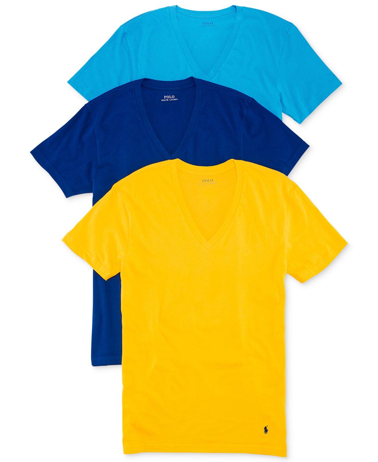 T Polo Shirt V Lauren polo White Neck Ralph 3 Pack qSzMVUp
