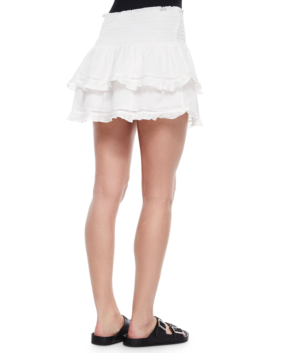 White Tiered Skirt - Skirts