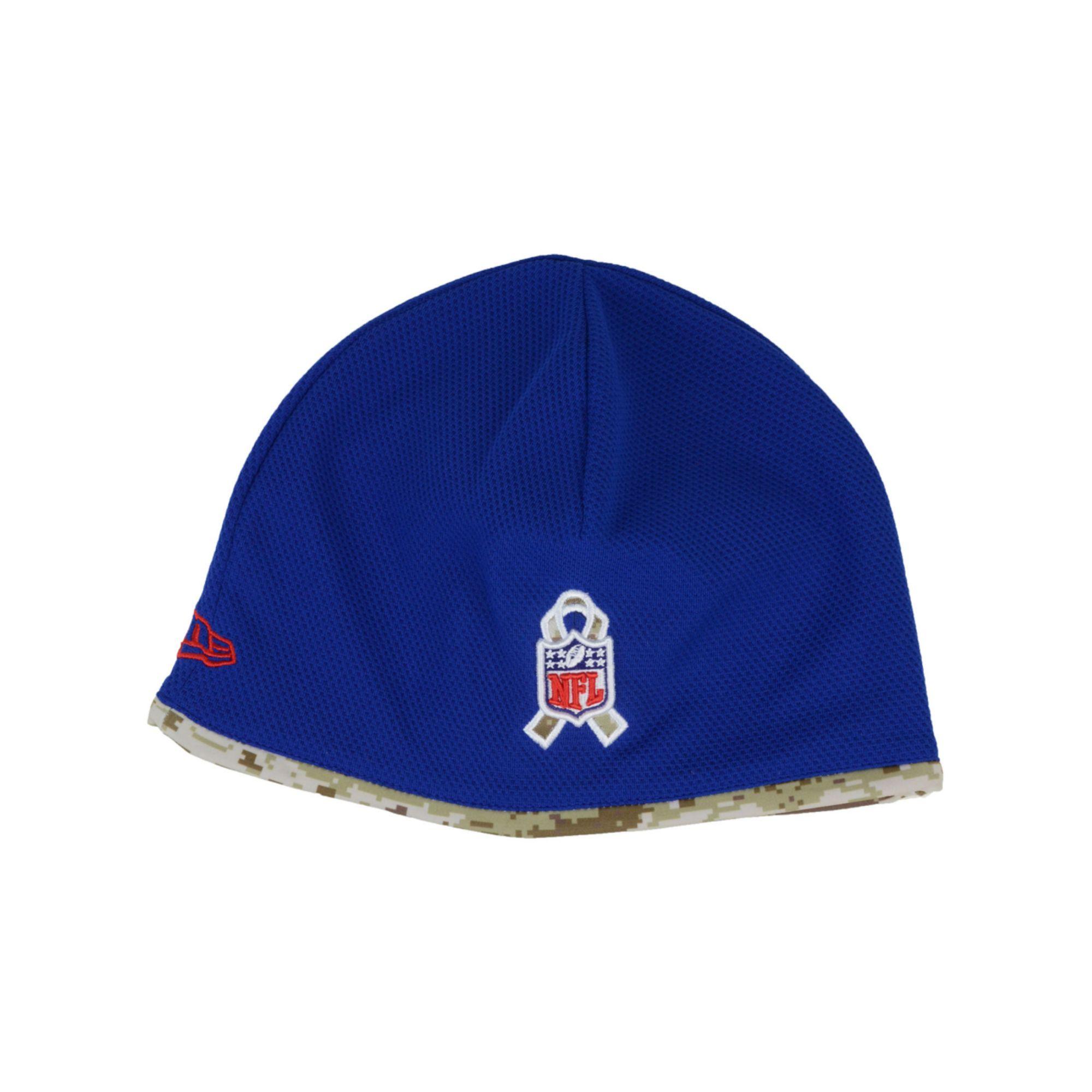 buy popular 4c0b2 e8a39 Lyst - KTZ New York Giants Salute To Service Tech Knit Hat in Blue ...