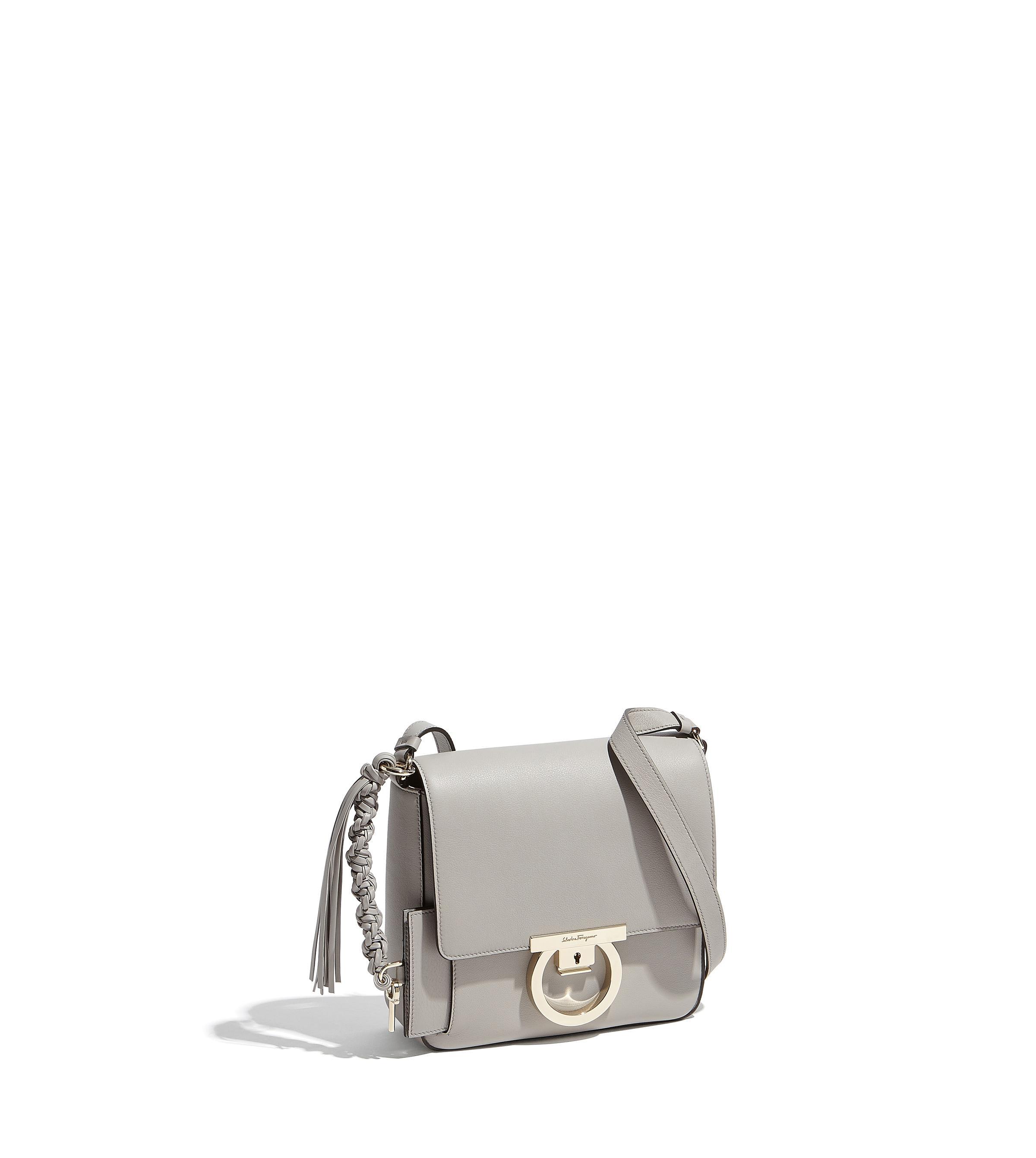 7193c9ae4c Lyst - Ferragamo Gancini Lock Flap Bag in Gray