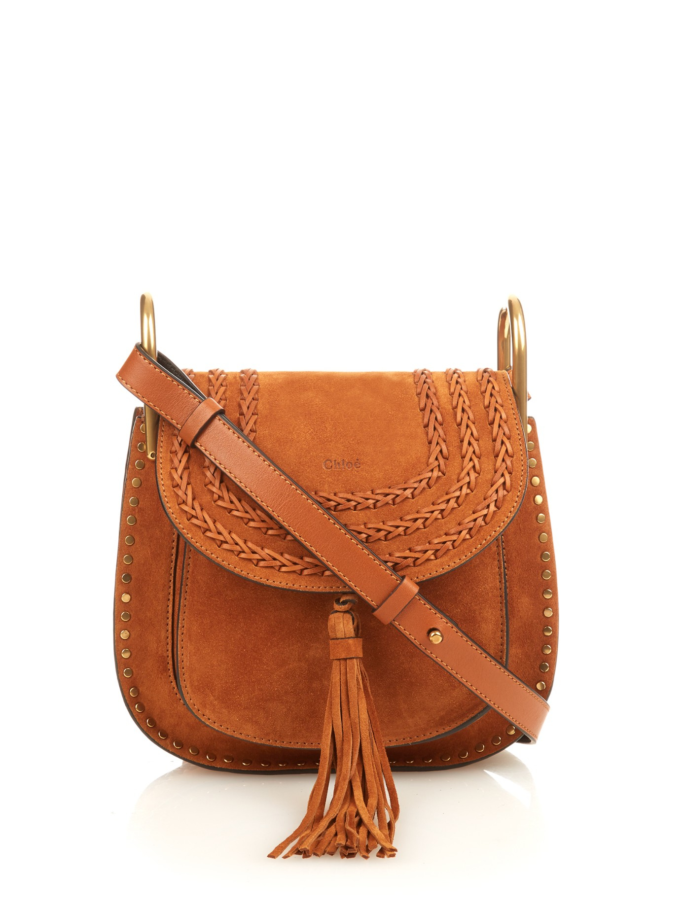 c7a7c9b365 Lyst - Chloé Hudson Small Suede Cross-body Bag in Brown