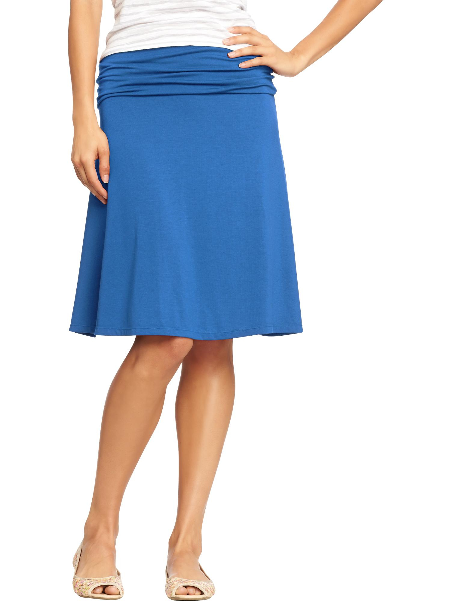 Old Navy Foldover Jersey Skirt in Blue (Color Me Blue)   Lyst