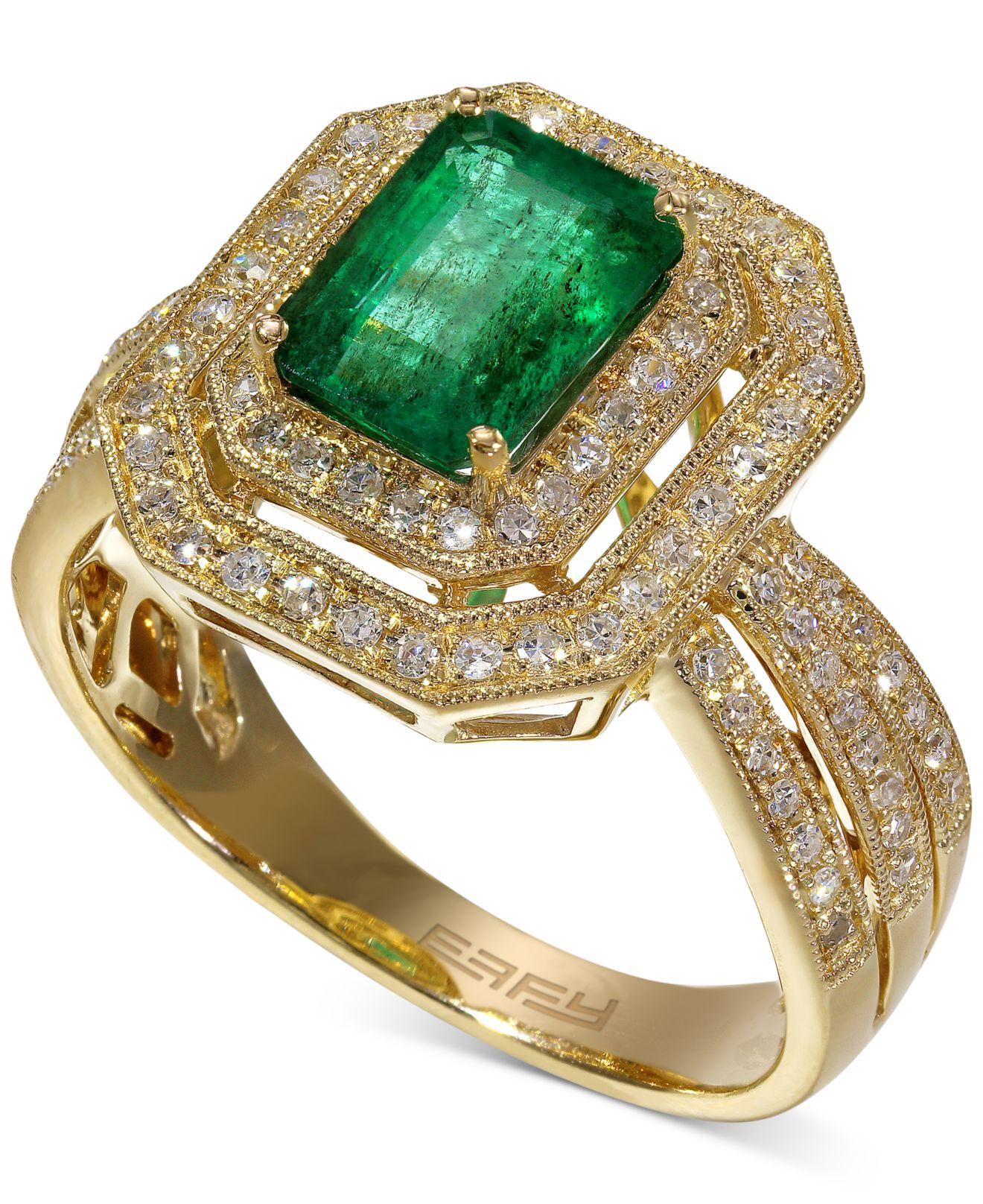 effy collection brasilica by effy emerald 1 3 8 ct t w