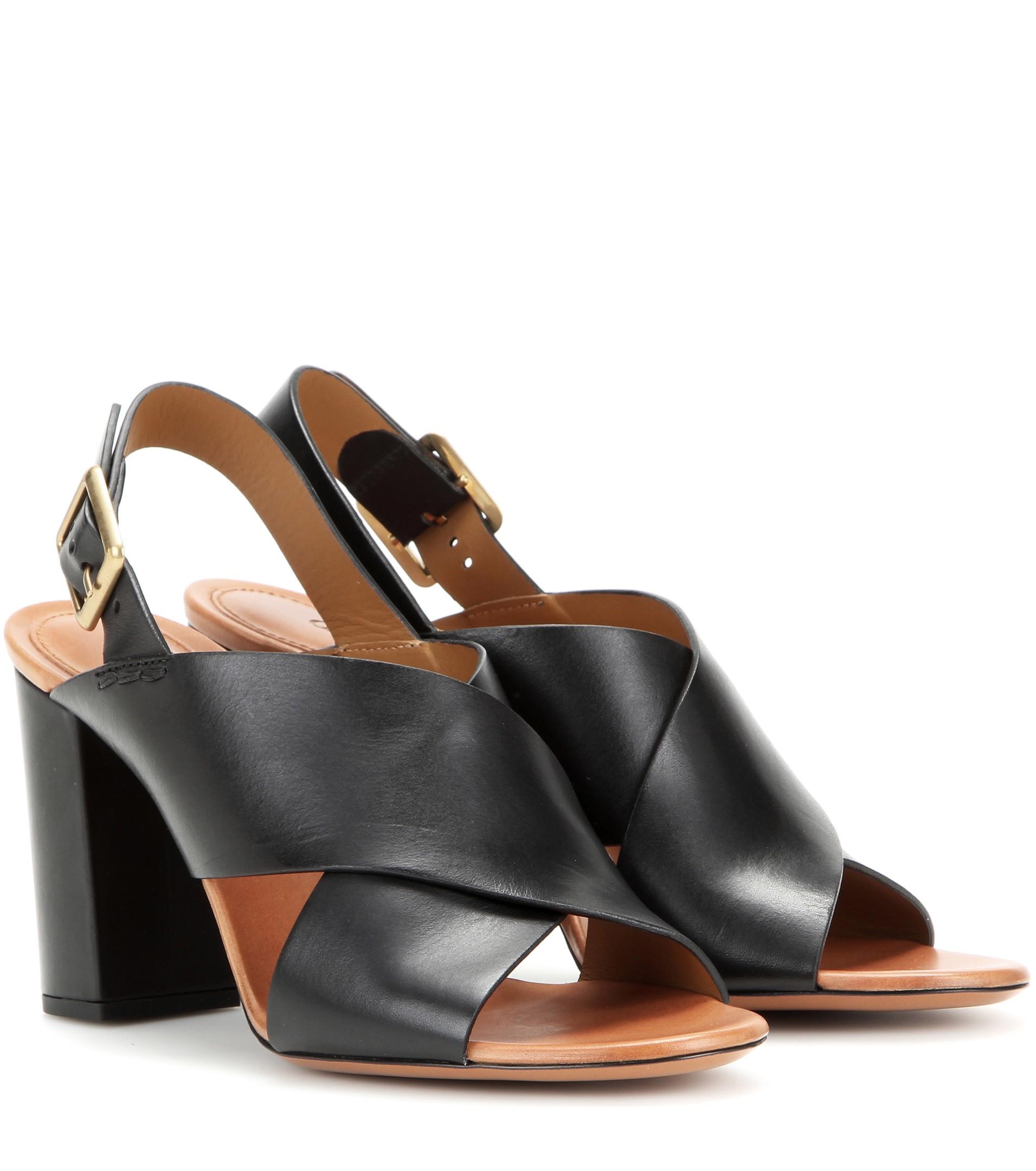 Chloé Leather Sandal yq630