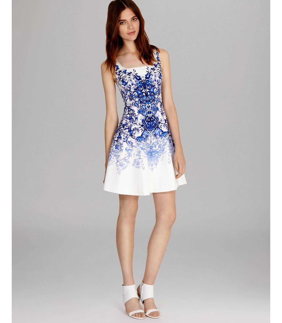 Lyst Karen Millen Dress Tile Print In White