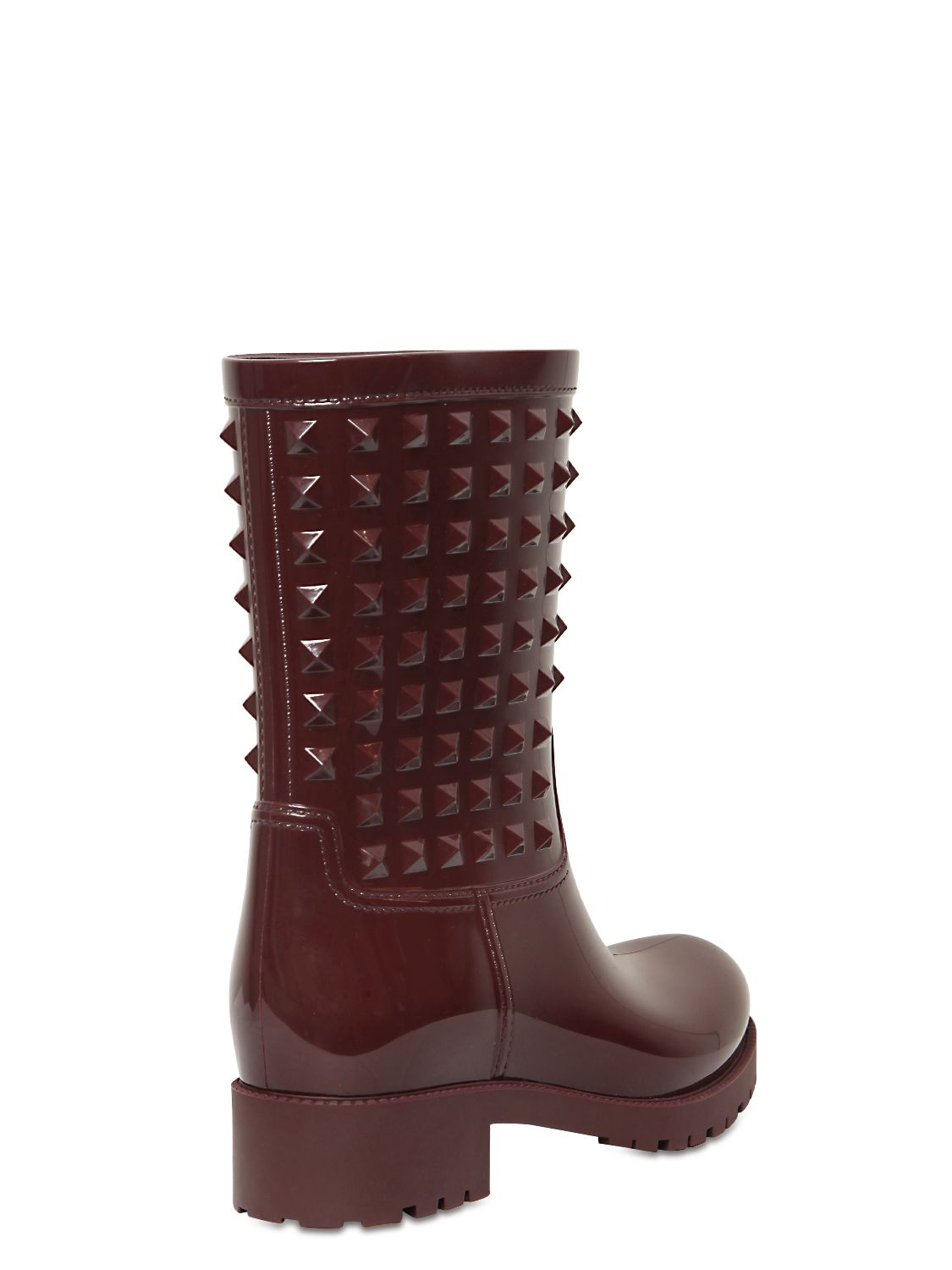 Valentino 50mm Rubber Studded Rain Boots In Purple Lyst