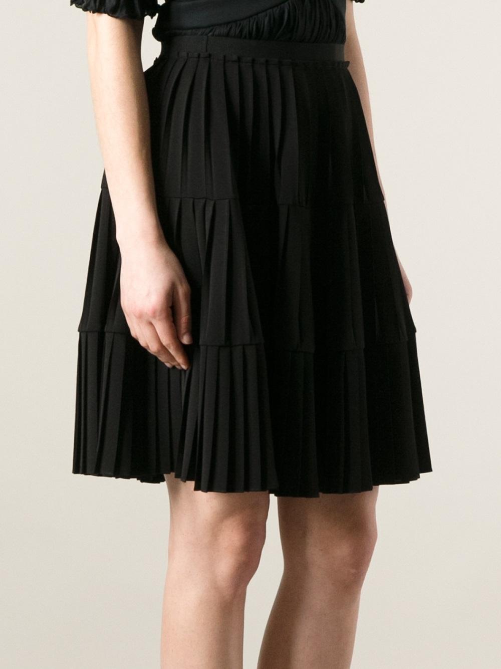 af80b1ef29 Givenchy Pleated Skirt in Black - Lyst