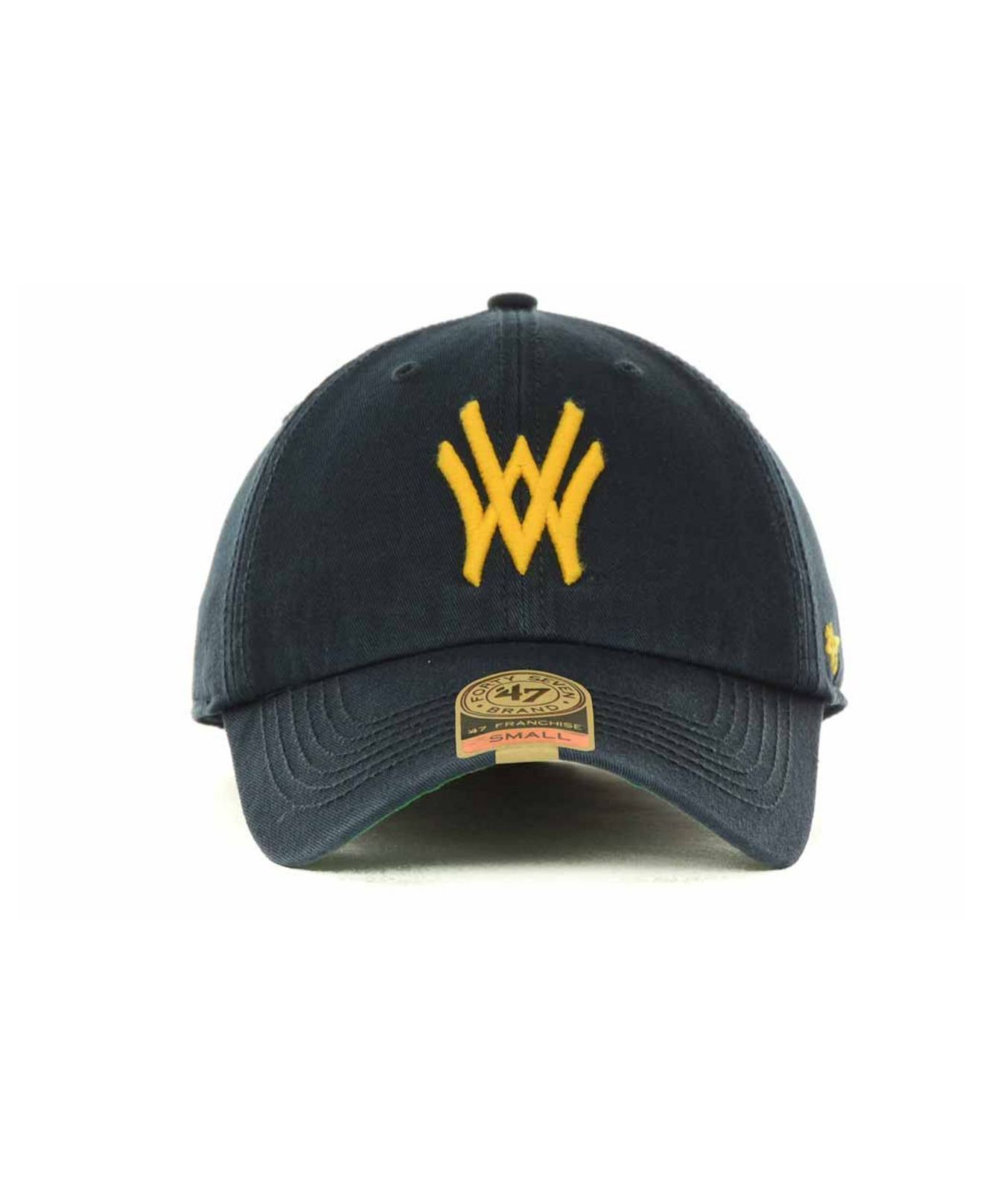6f48ba4a2e3ce ... shopping lyst 47 brand west virginia mountaineers franchise cap in blue  for men 63d54 621c9