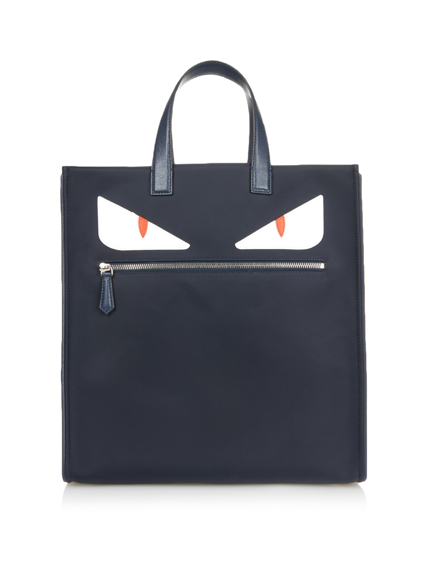 9ef31e310790 ... norway lyst fendi bag bugs leather and nylon tote in blue for men 1a9d0  69b48