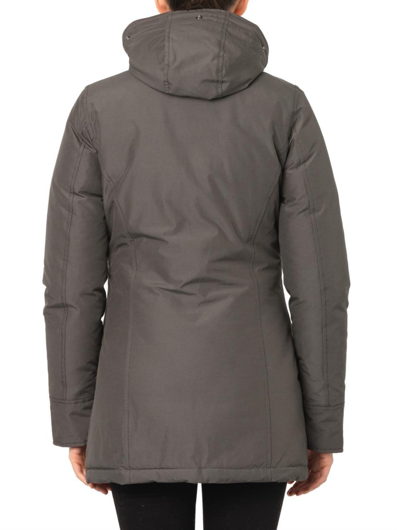 Woolrich Arctic Fur Hood Down Parka Jacket In Black Lyst