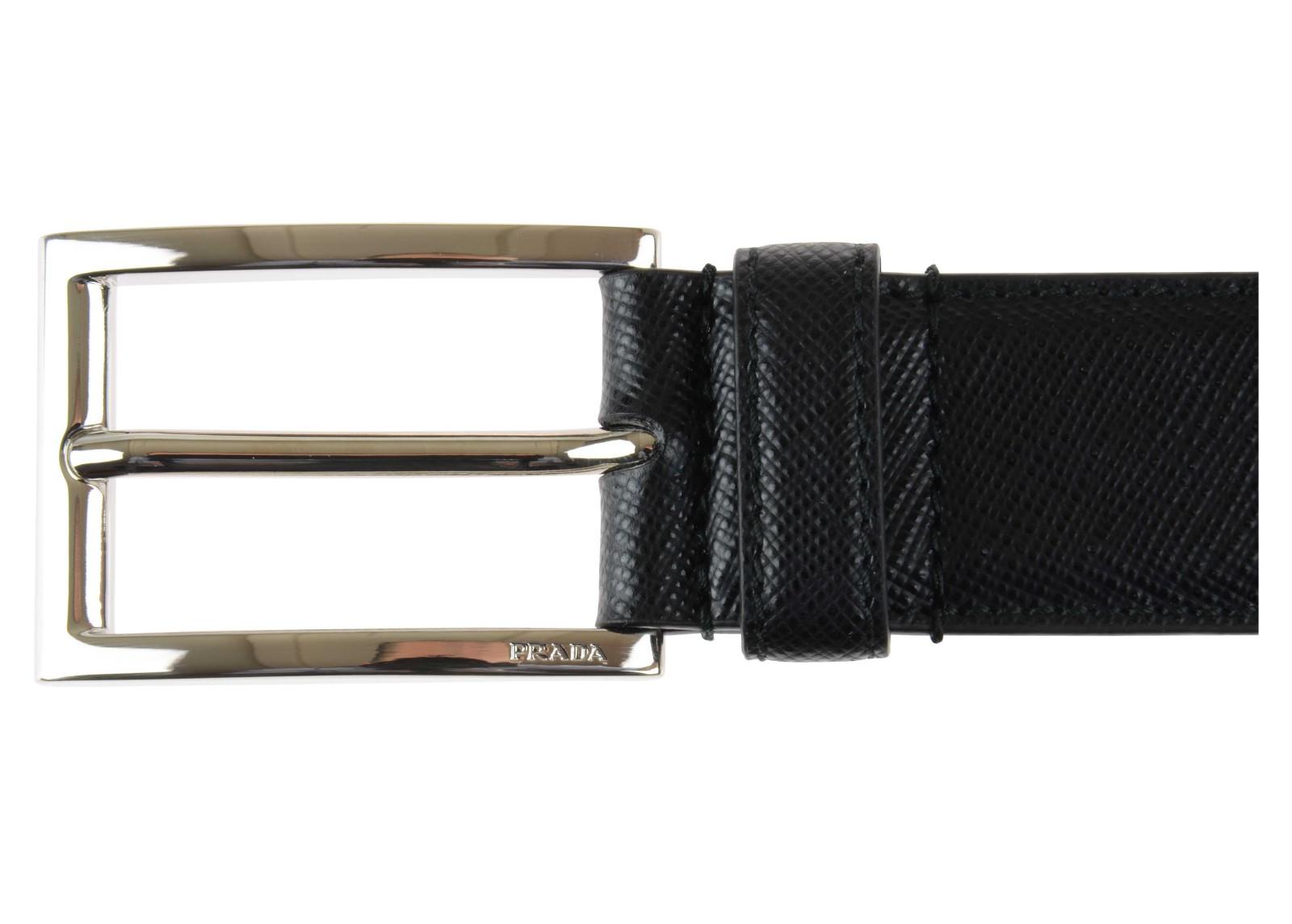 Prada Cintura Uomo Pelle Saffiano Nero in Black for Men (Nero)   Lyst