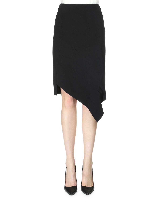 roland mouret tafan asymmetric pencil skirt in black lyst