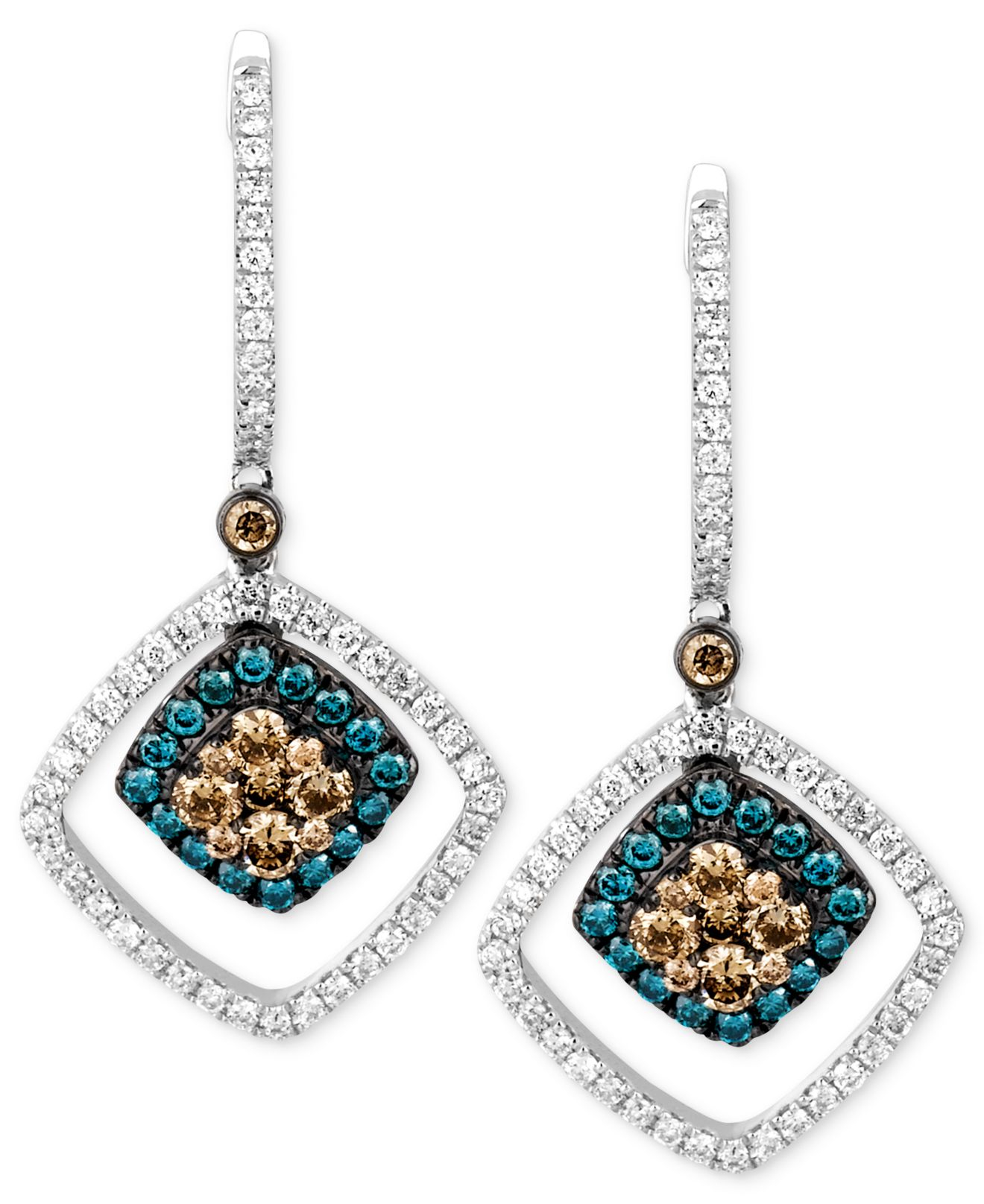Le vian Chocolate And White Diamond (9/10 Ct. T.w.) And Blue ...