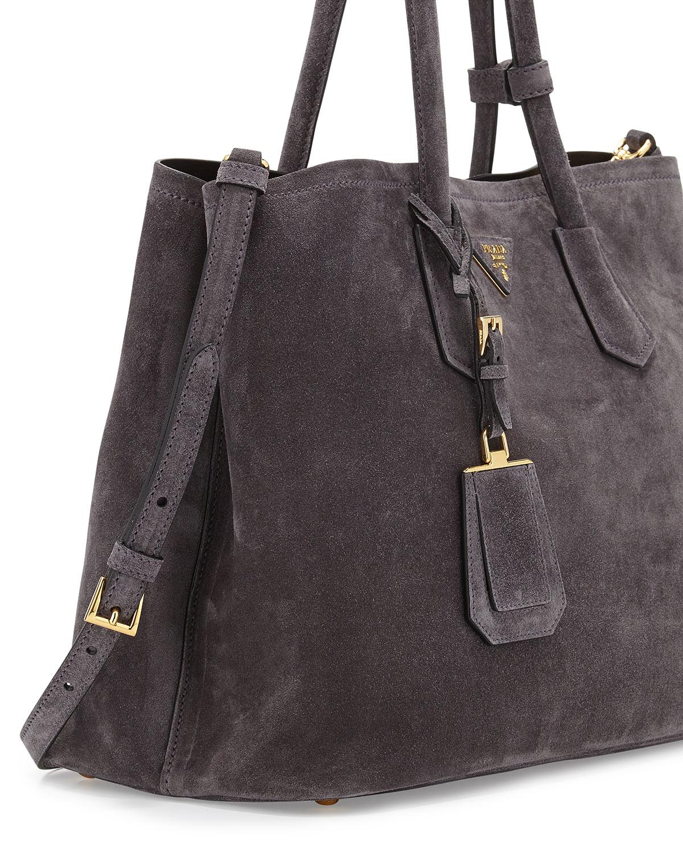prada designer handbag - prada suede python ayers twin pocket tote, fake prada bags uk