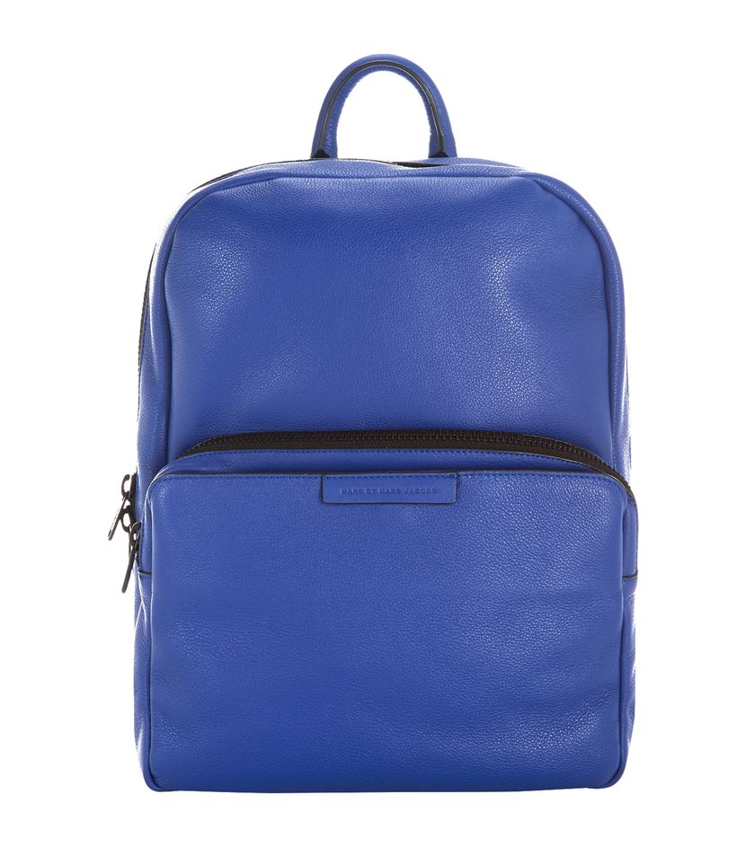 Marc by marc jacobs Leather Backpack in Blue for Men | Lyst
