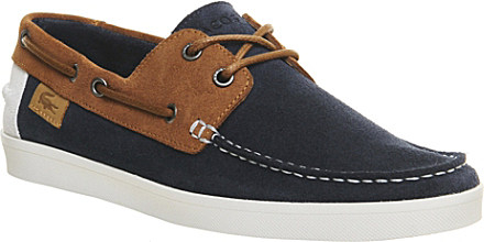 f7c1fdb6b1aa45 Lacoste Keellson Suede Boat Shoes - For Men in Blue for Men - Lyst