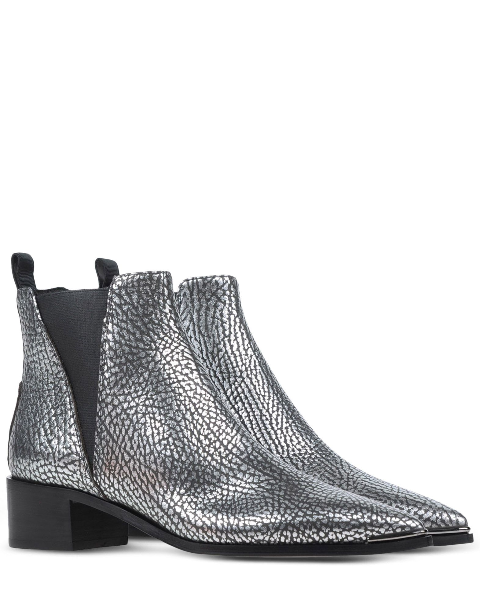 Acne Ankle Boots in Silver