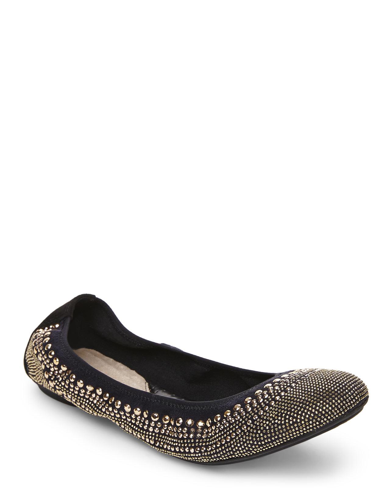 2edc51cfaba Lyst - Hush Puppies Gold   Black Chaste Ballet Flats in Metallic