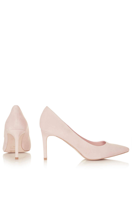 Lyst Topshop Womens Golden Mid Heel Court Shoes Nude In Pink
