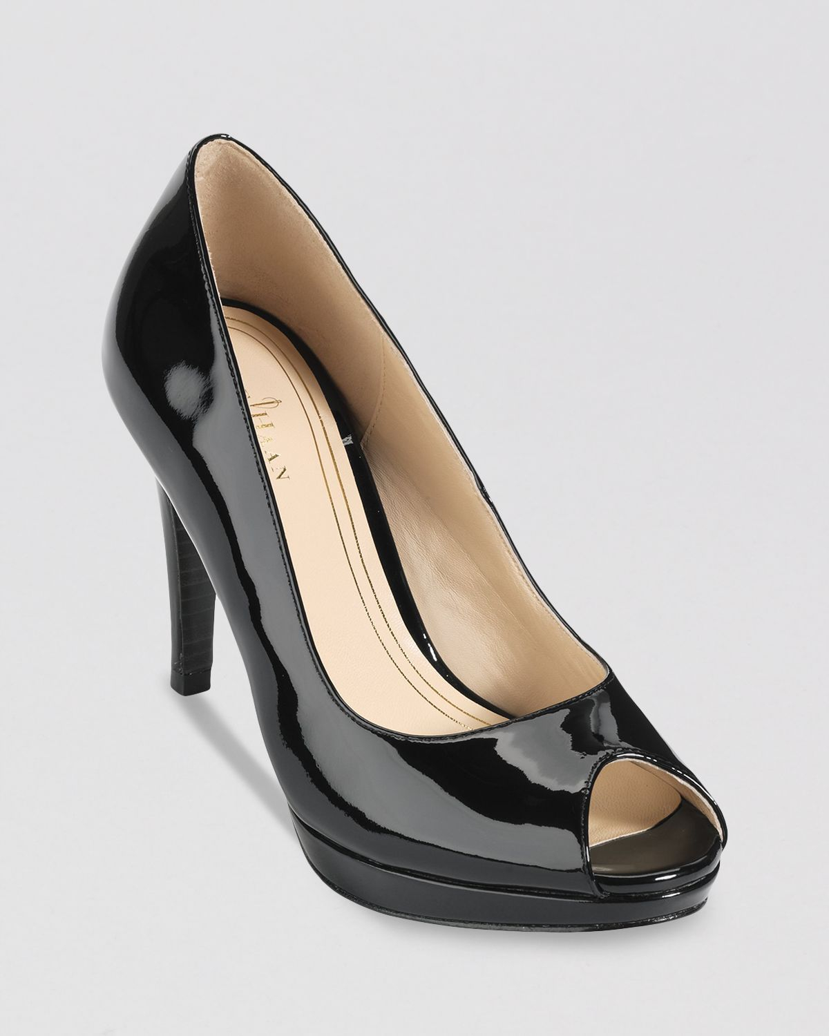 d73c08e1aec7 Lyst - Cole Haan Peep Toe Platform Pumps Chelsea High Heel in Black